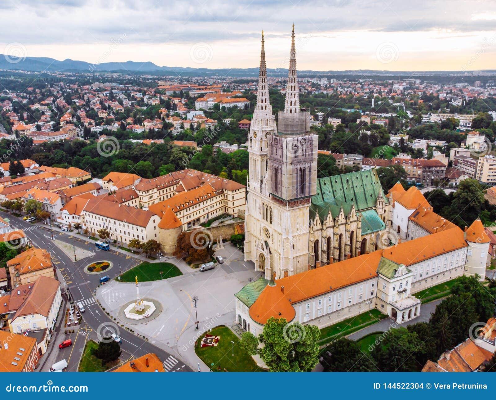 萨格勒布老欧洲哥特式教会大教堂