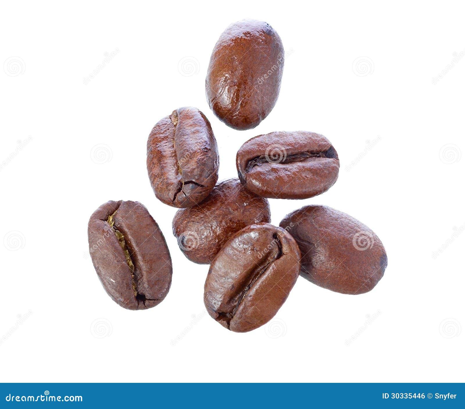落的咖啡豆。