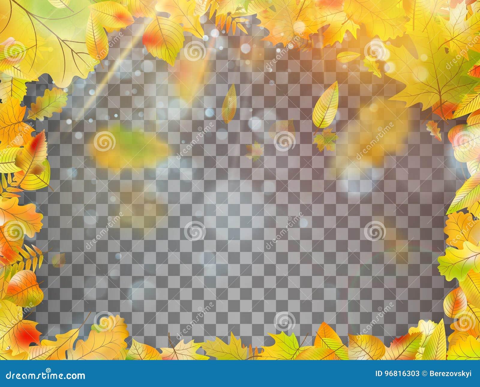 落的秋叶框架 EPS 10向量
