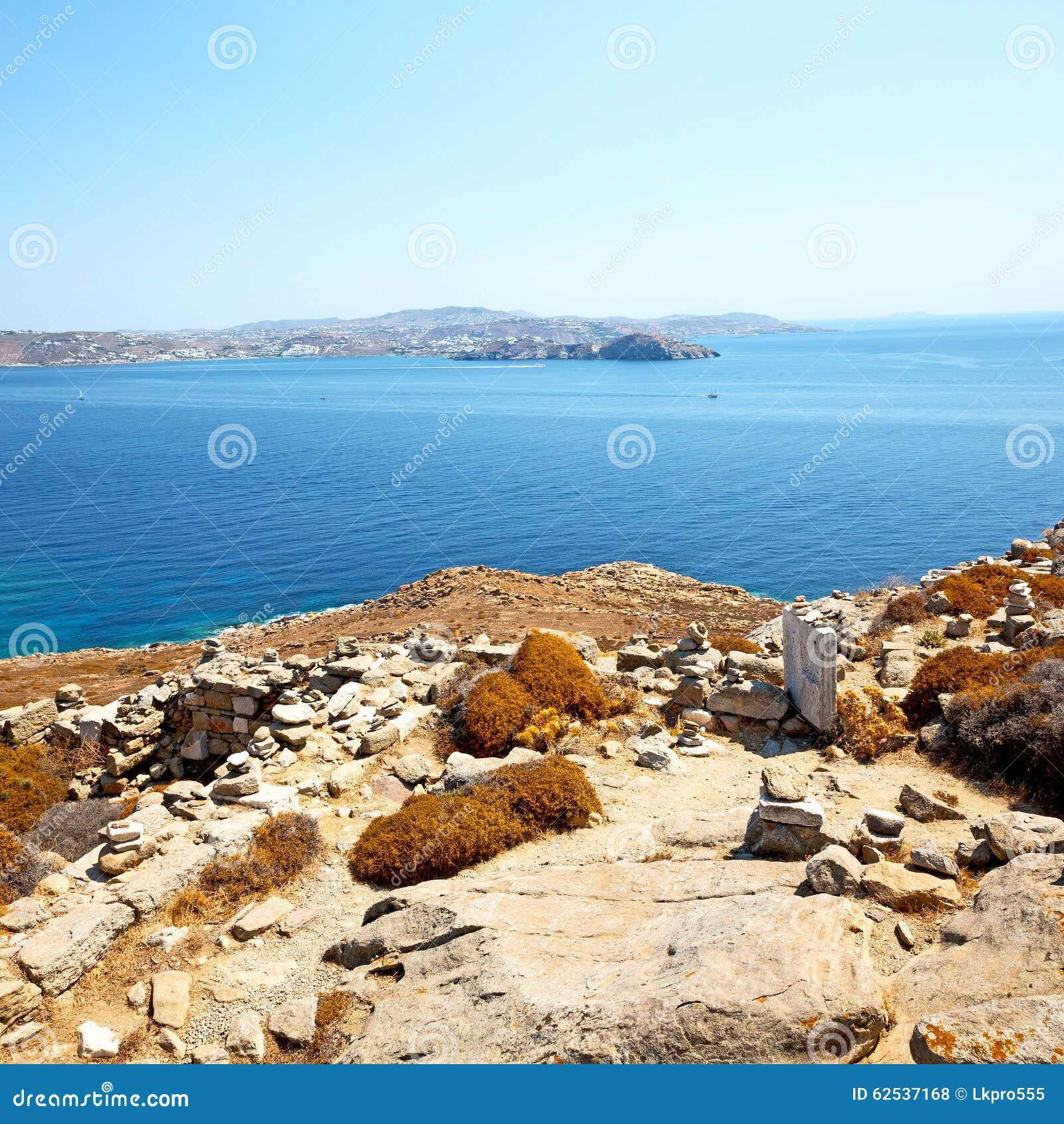 著名在delos希腊historycal上城和老废墟s