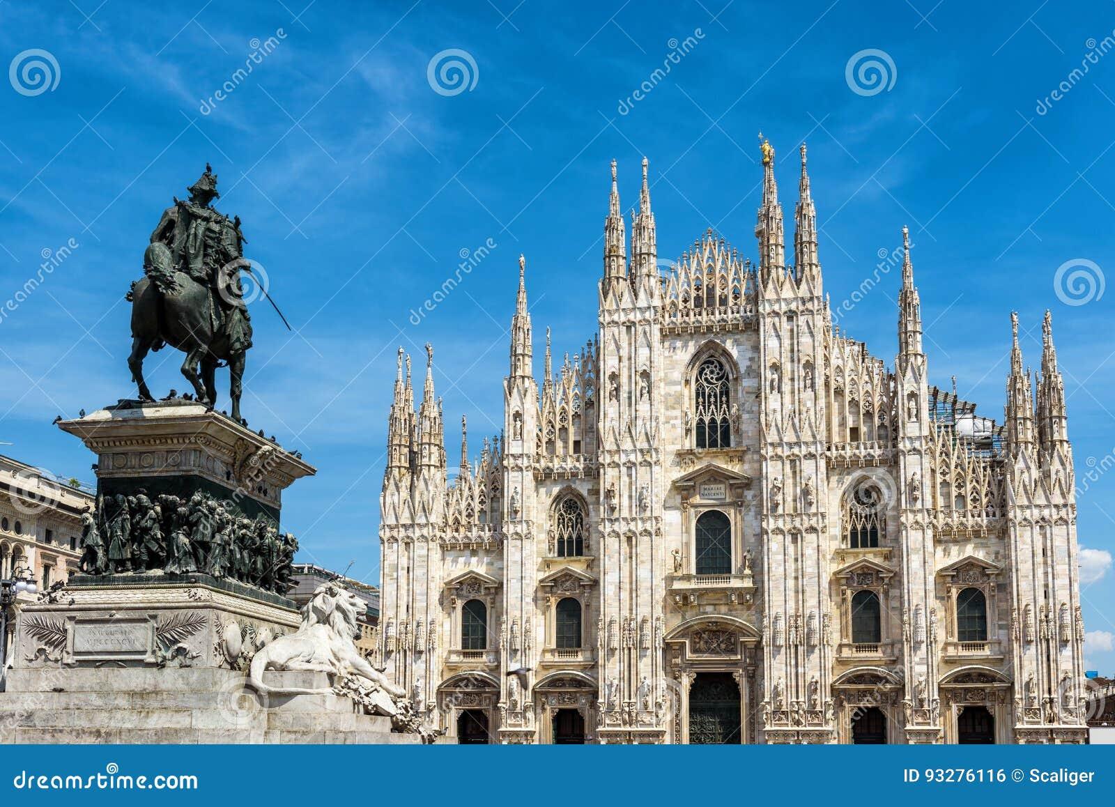 著名米兰大教堂或者中央寺院,在米兰,意大利