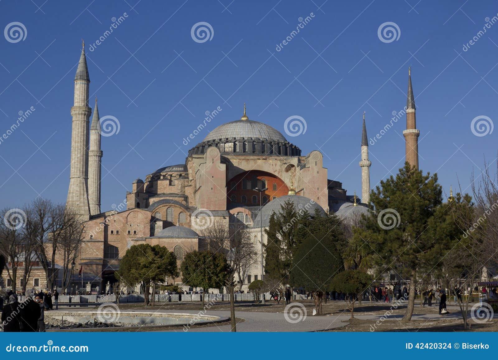 著名hagia伊斯坦布尔sophia