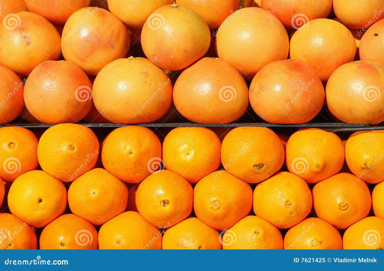 葡萄柚桔子