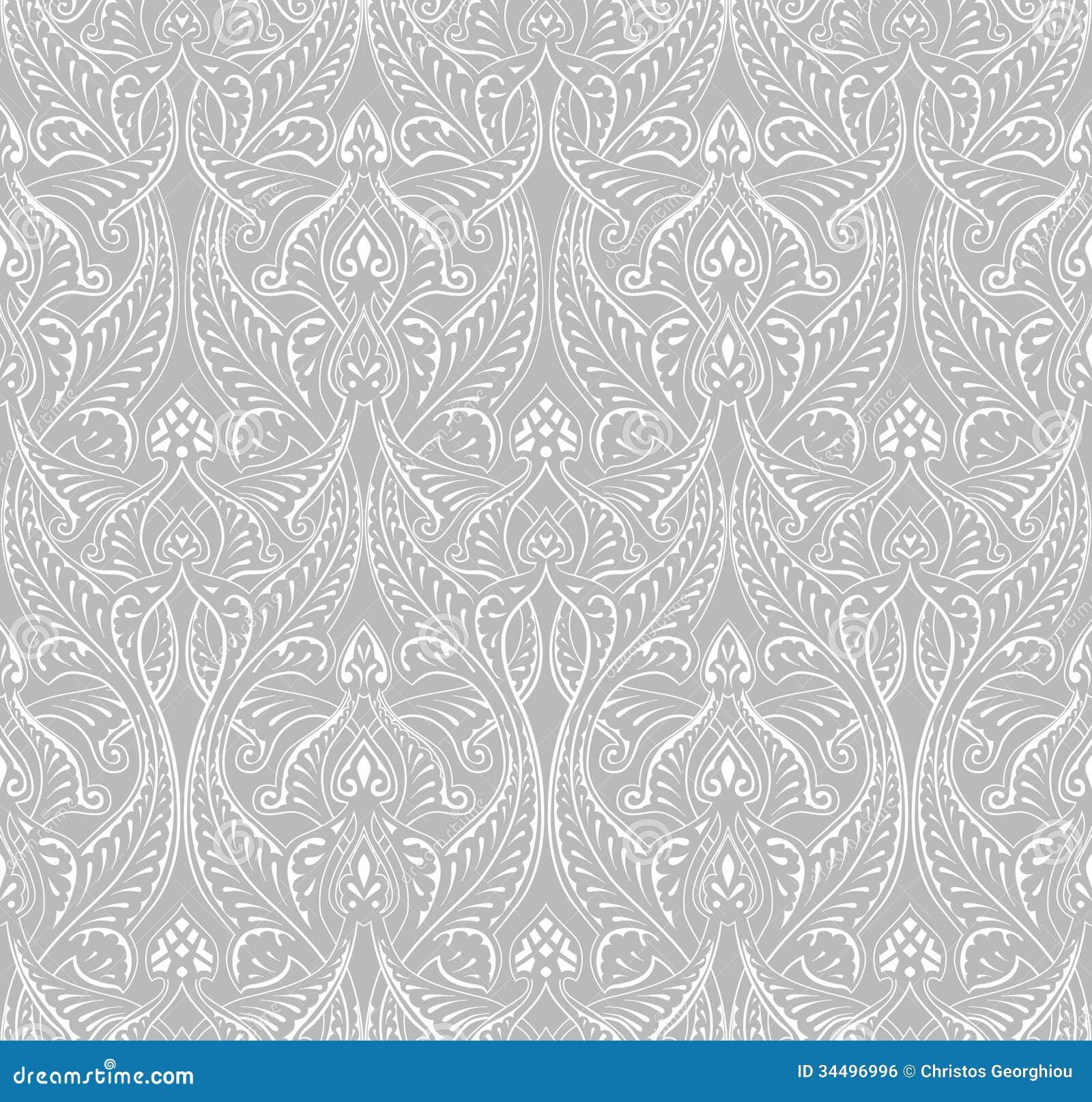 一个复杂葡萄酒无缝tilable重复的伊斯兰教的主题样式.图片