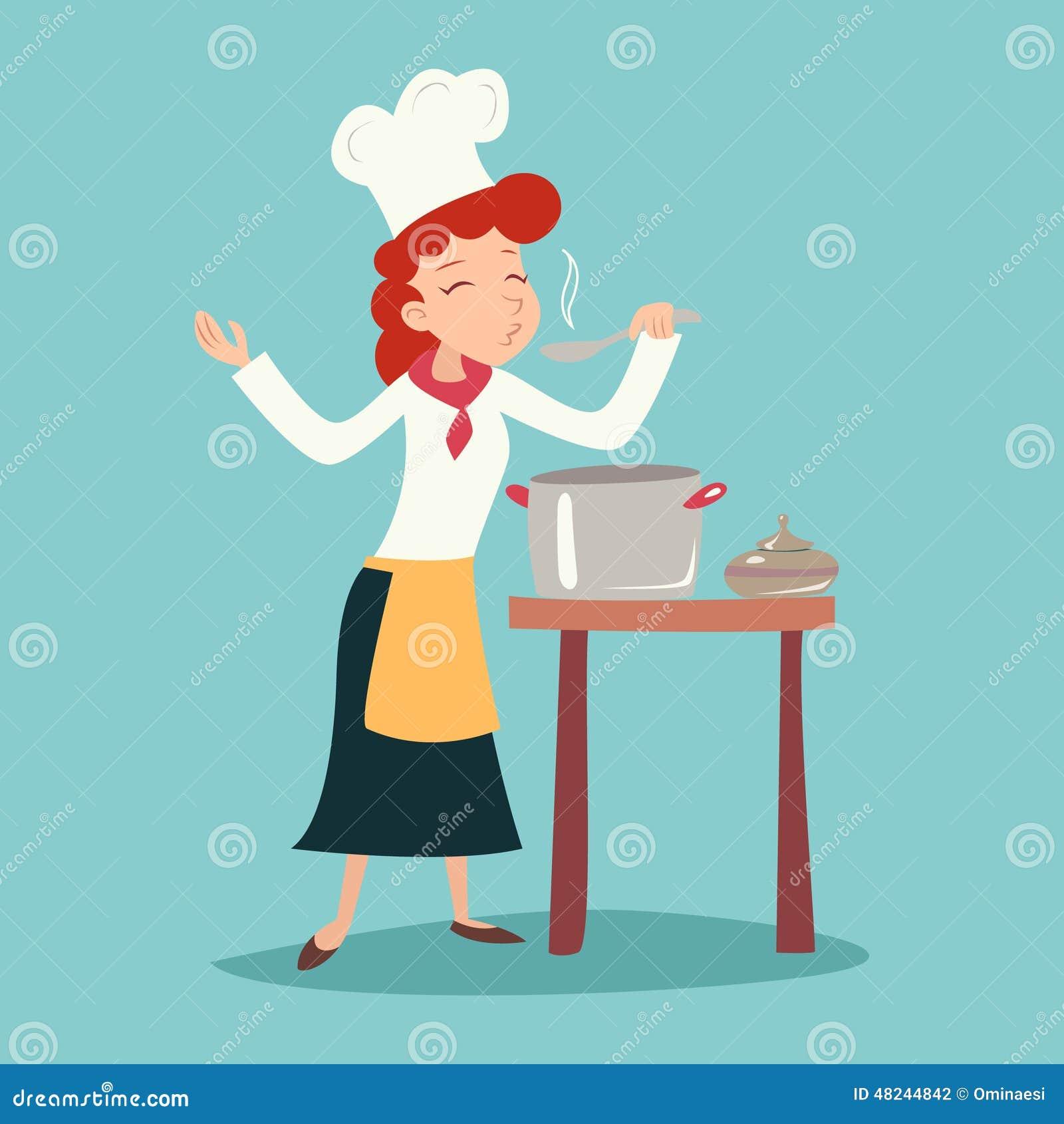 葡萄酒愉快的微笑的首要厨师女孩品尝盘图片