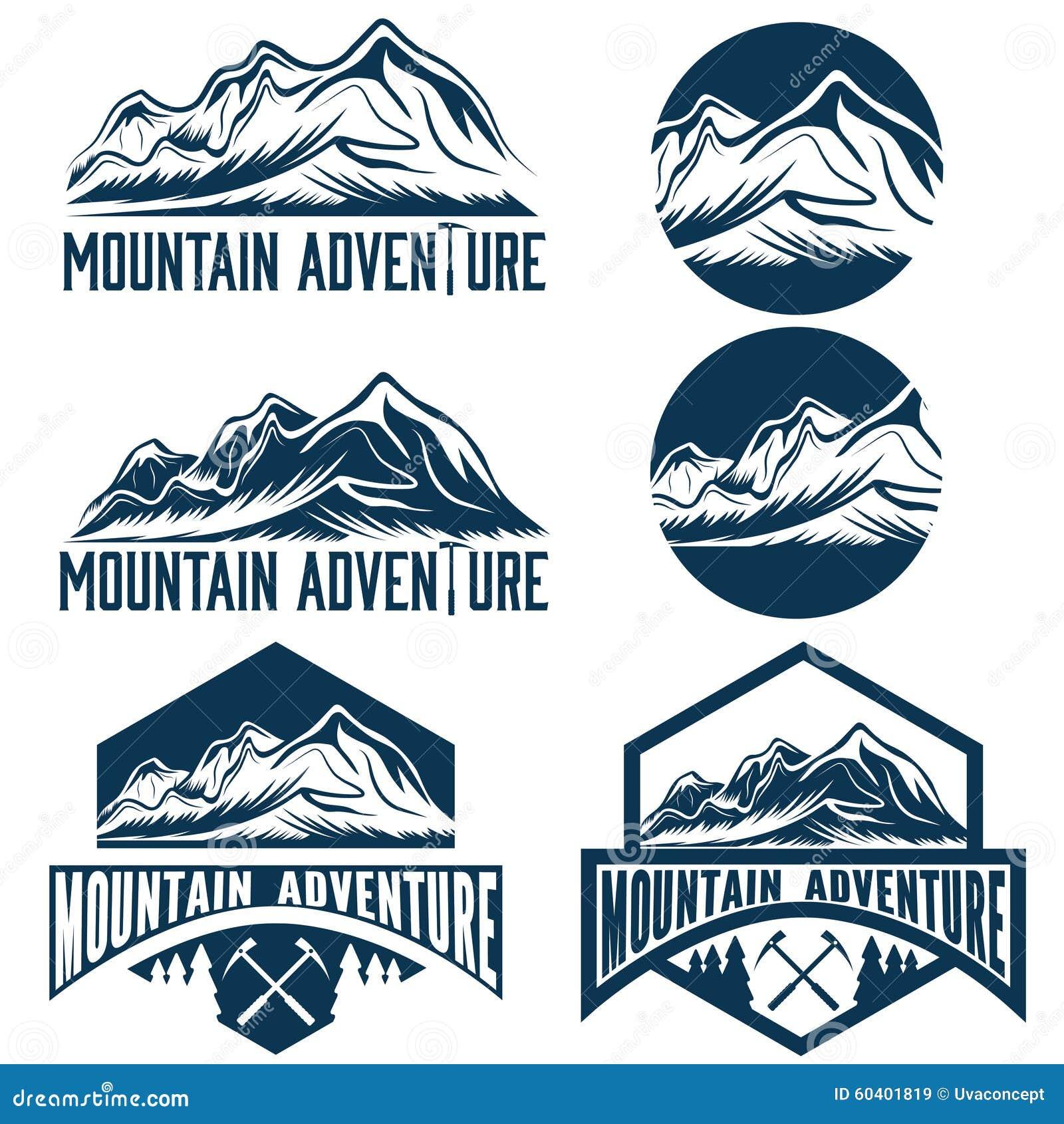 葡萄酒标记山冒险