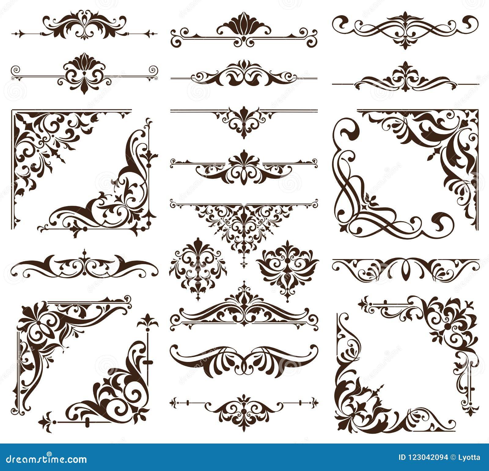 葡萄酒样式墙纸锦缎艺术nouveau装饰花卉设计元素无缝的纹理色的背景