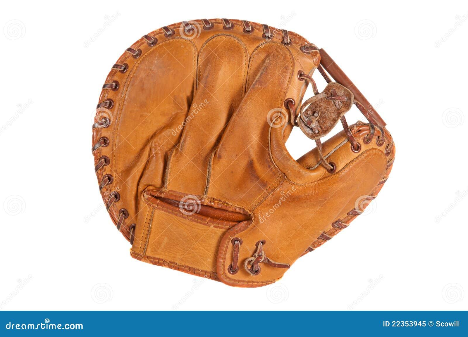 葡萄酒棒球俘获器的露指手套