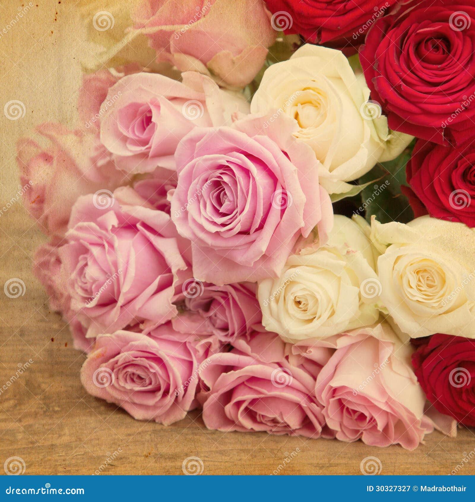 葡萄酒玫瑰花束的样式图片