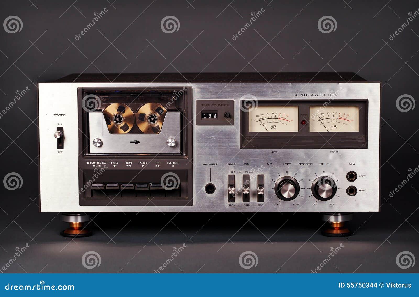 葡萄酒立体声盒式磁带甲板球员记录器