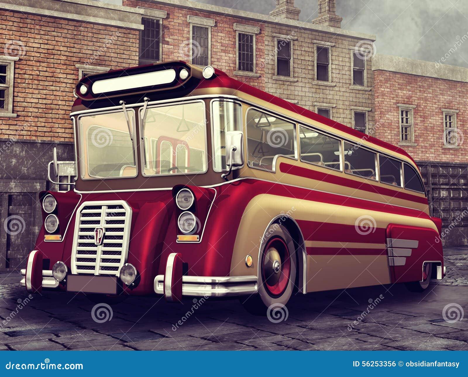 葡萄酒红色公共汽车