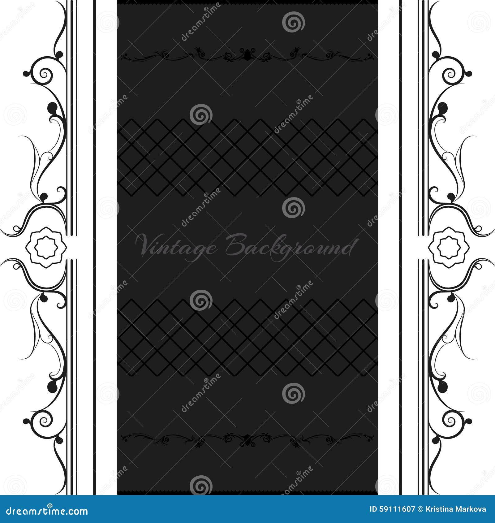 葡萄酒背景框架设计黑色