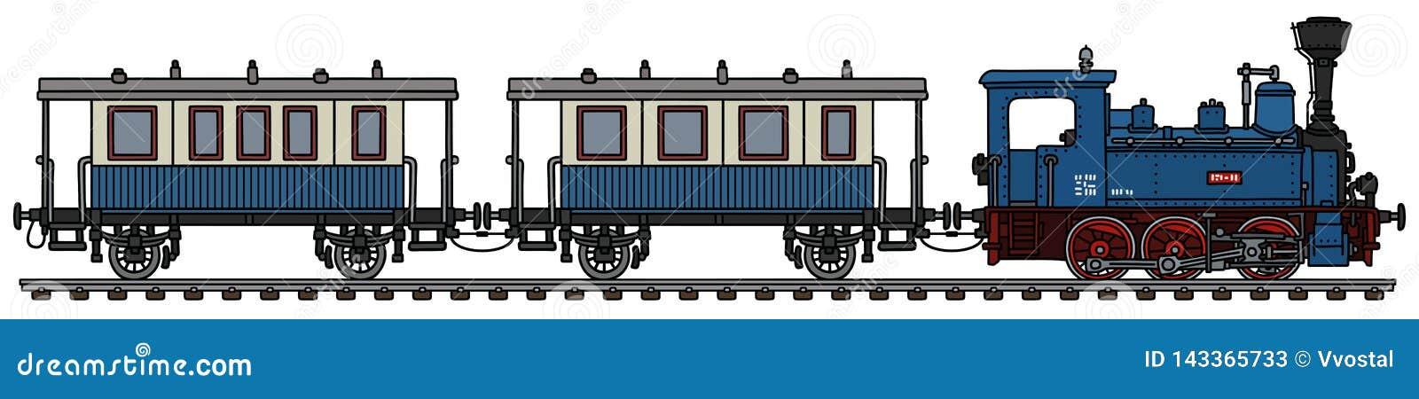 葡萄酒蓝色个人蒸汽火车