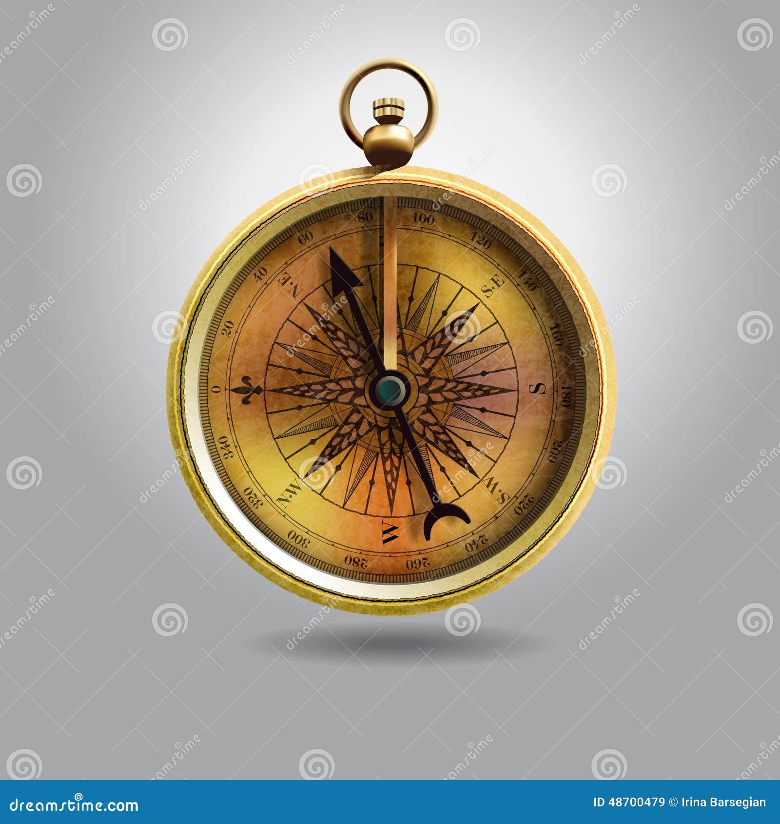 葡萄酒被隔绝的指南针的现实图象 例证