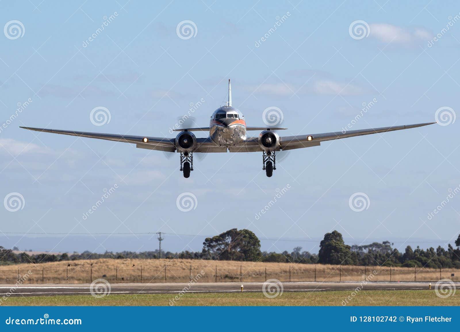 葡萄酒道格拉斯DC-3班机VH-TMQ由空气乡情游击手喷气机宪章经营