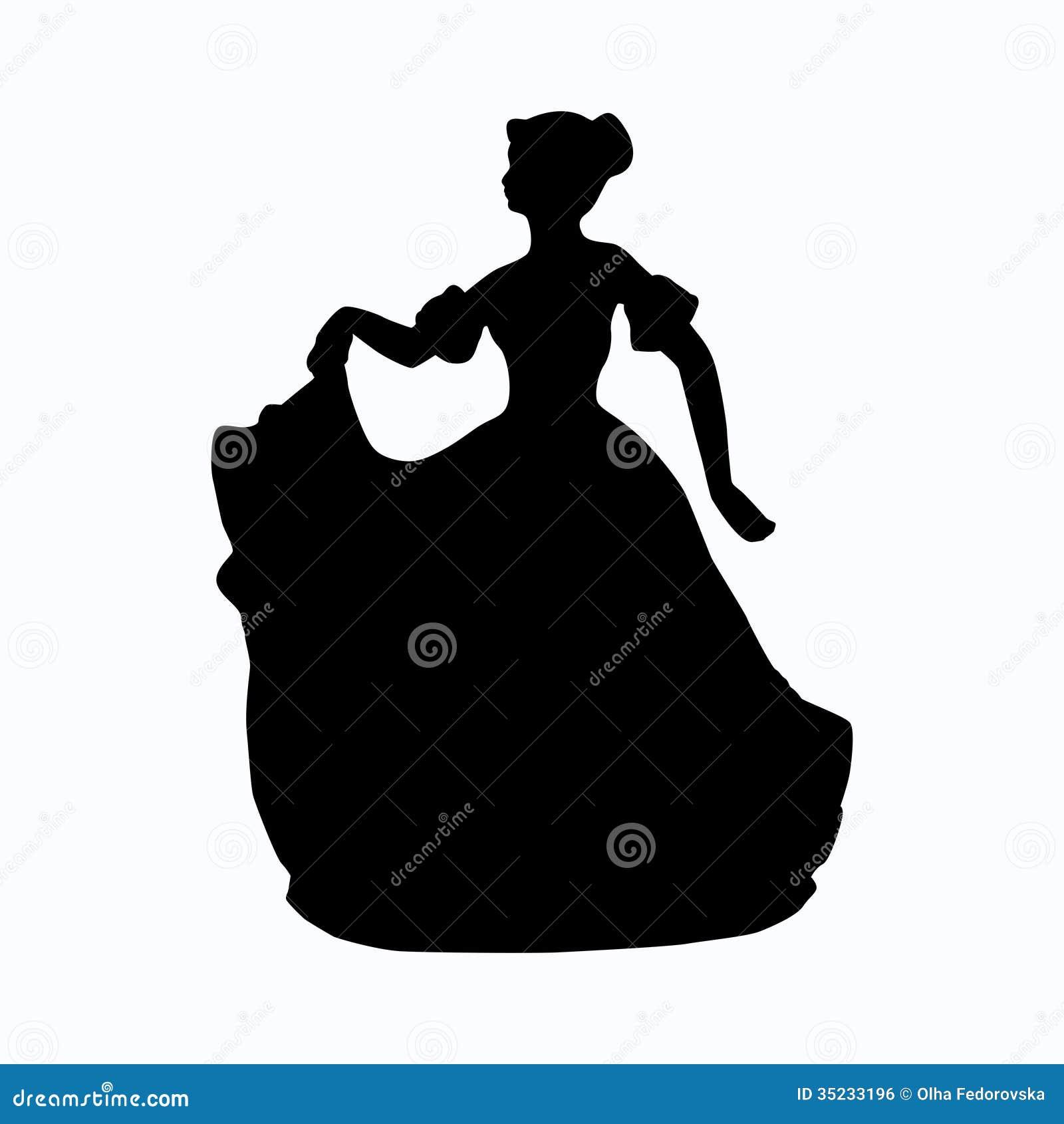 葡萄酒维多利亚女王时代的夫人剪影