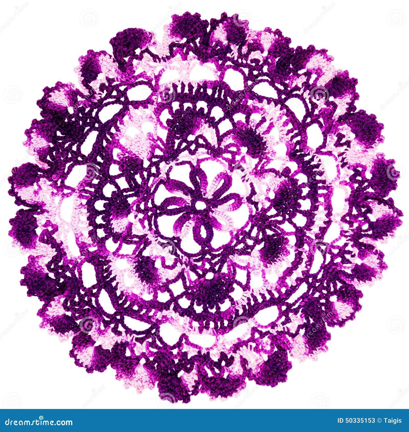 葡萄酒紫色被编织的餐巾