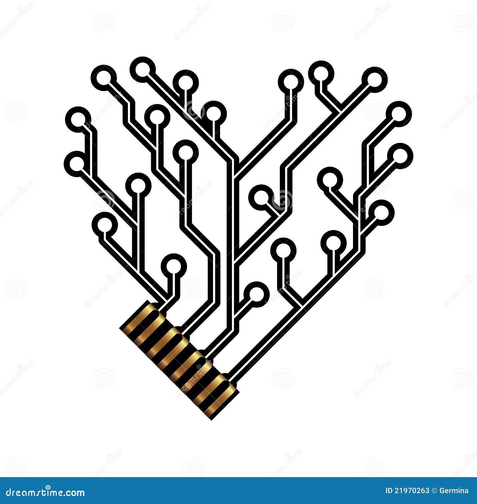 董事会电路重点形状技术向量