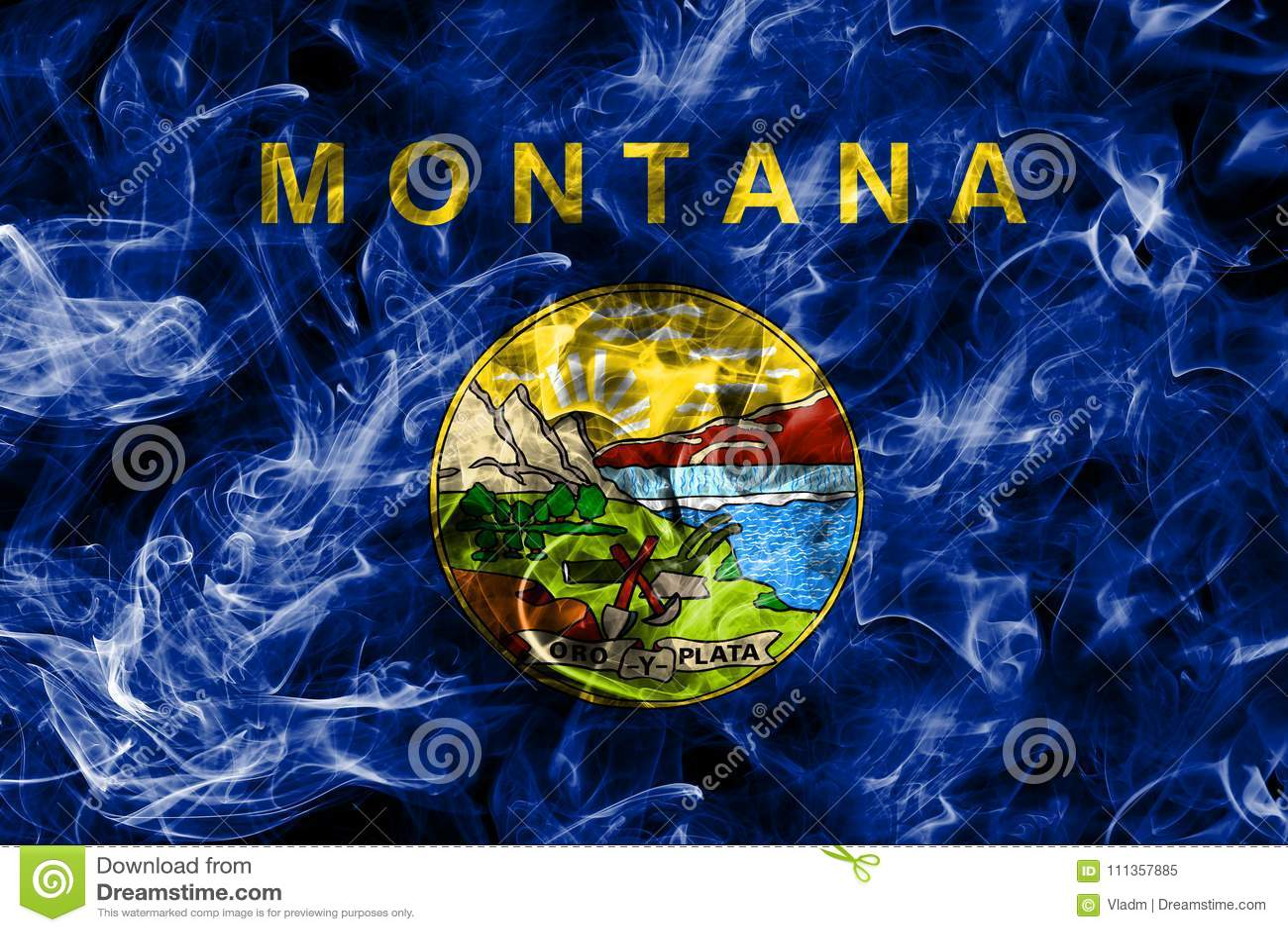 蒙大拿状态烟旗子,美利坚合众国