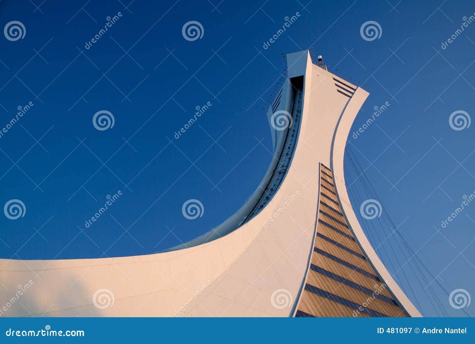 蒙特利尔奥林匹克照片体育场股票塔