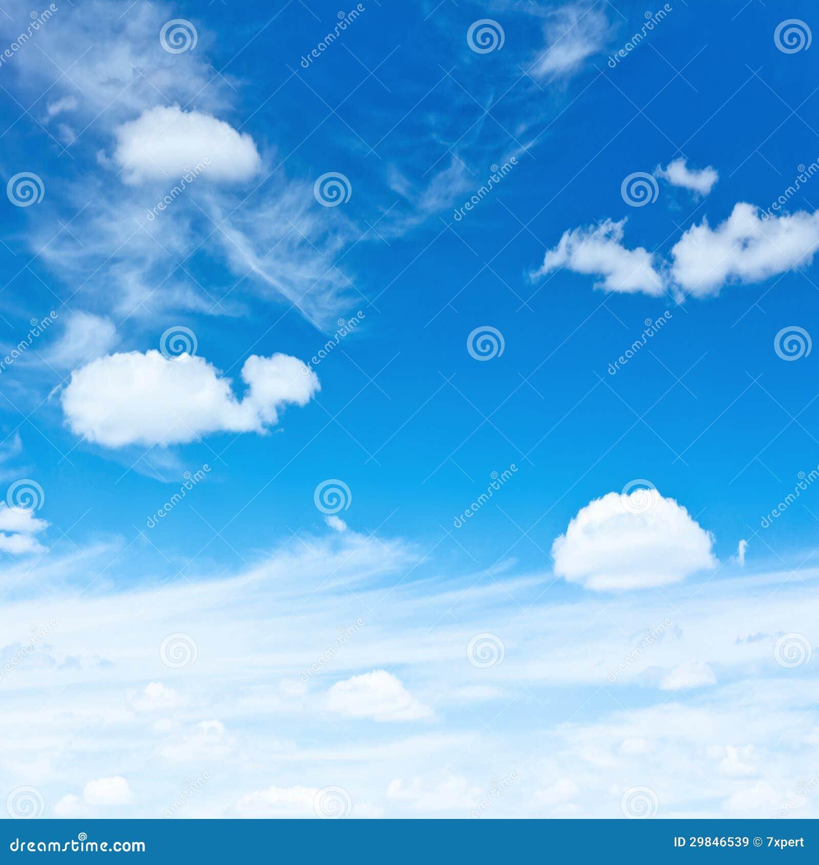 蓝天和云彩