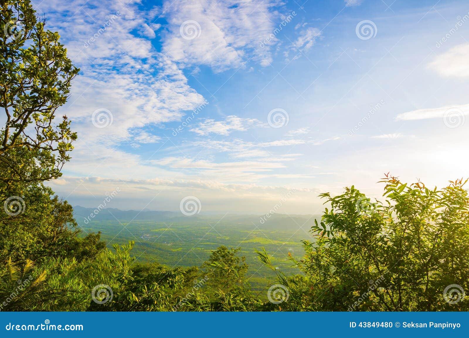 蓝天风景与云彩的 库存照片 - 图片: 43849480图片