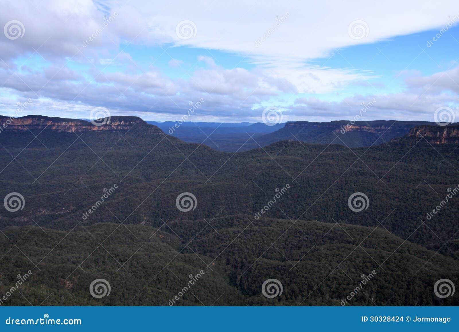 蓝山山脉, NSW,澳大利亚