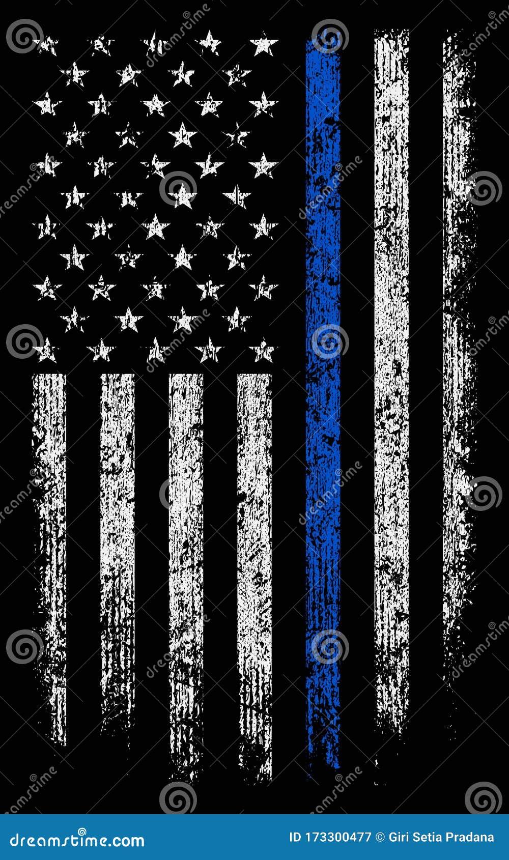蓝线薄壁纸 背景库的格朗基美国警察库存例证 插画包括有背景库的格朗基美国警察 蓝线薄壁纸