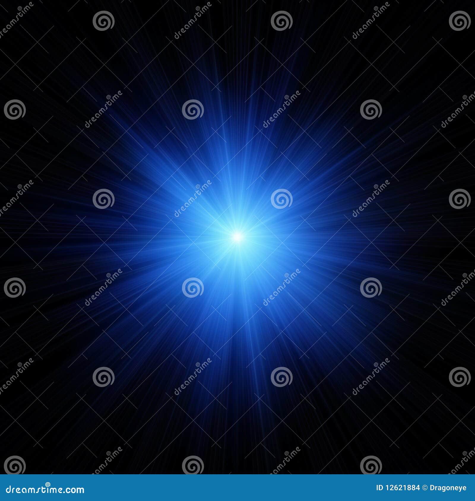 蓝色一刹那星形