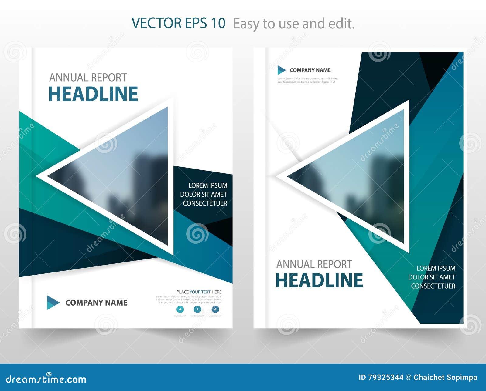 蓝色三角摘要年终报告小册子设计模板传染媒介 企业飞行物infographic杂志海报 抽象格式