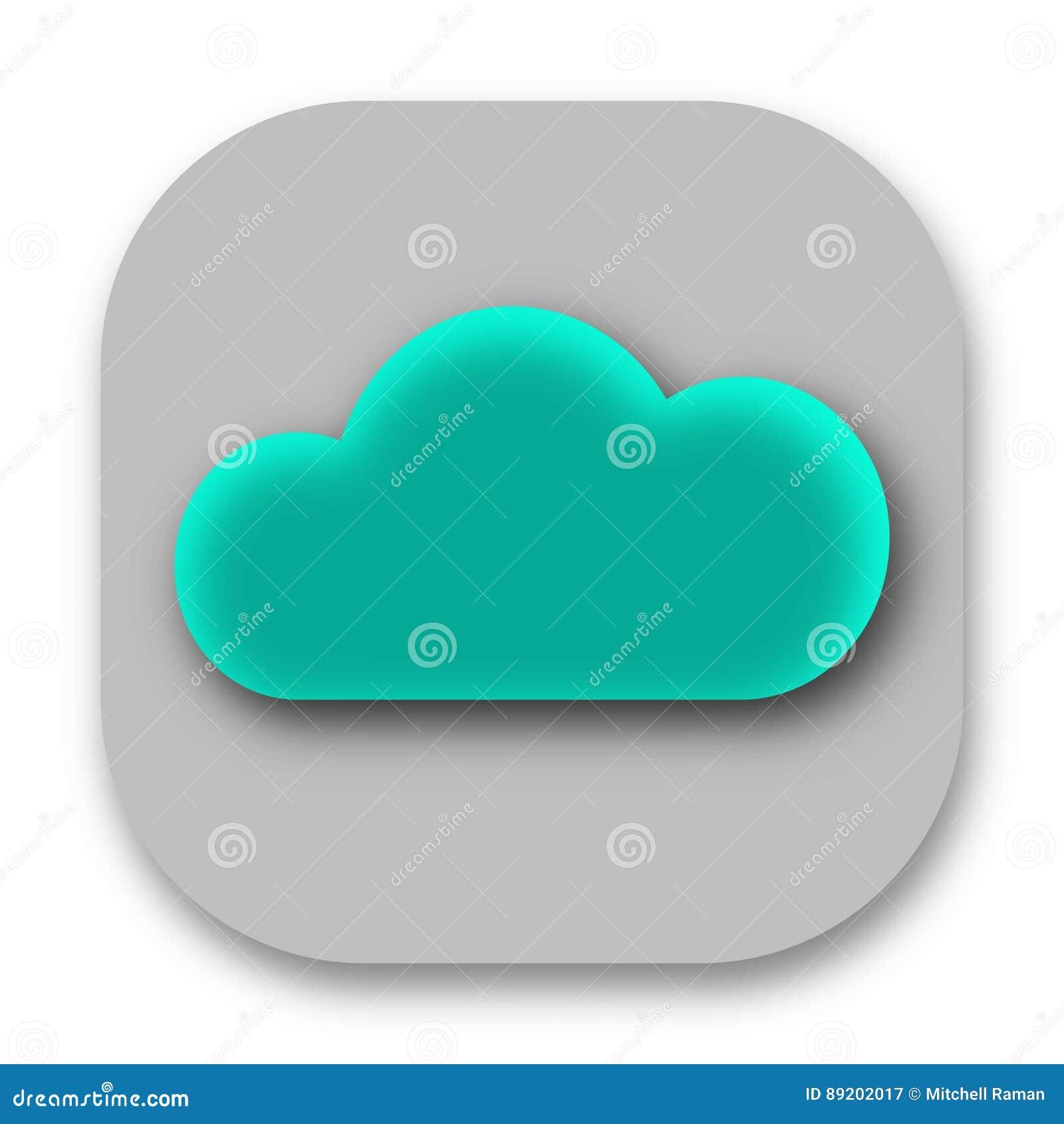 蓝色云彩象传染媒介图象