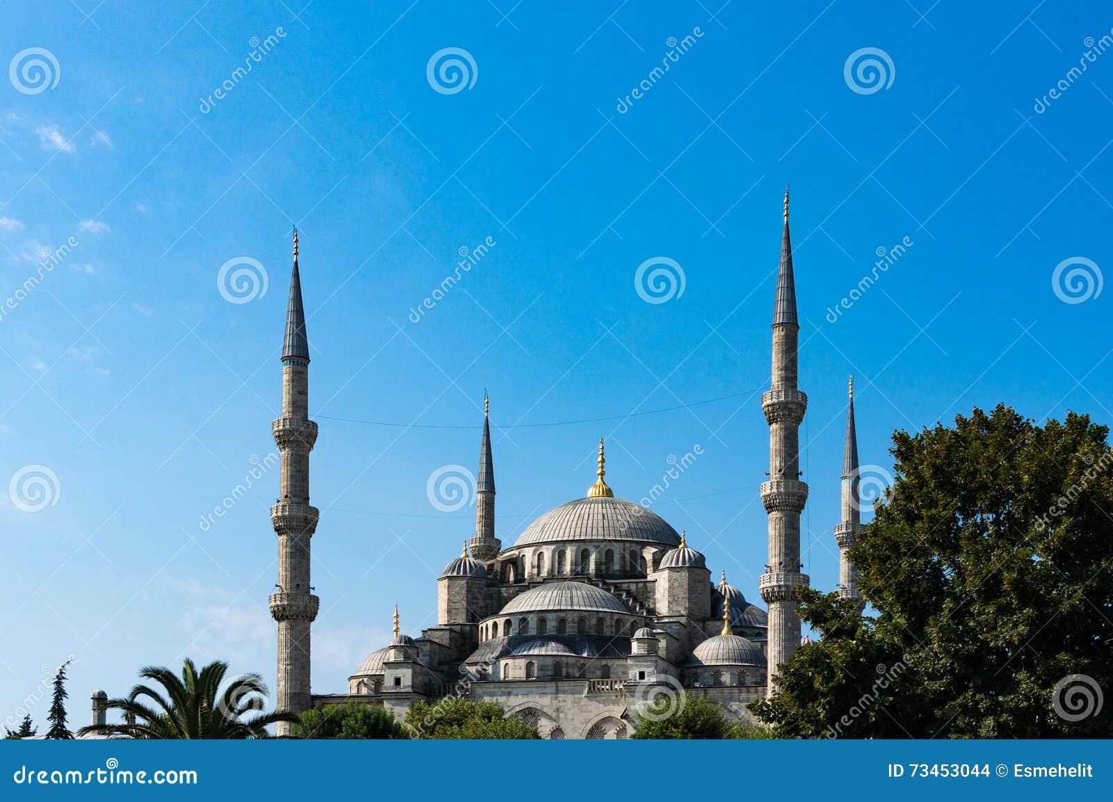 蓝色伊斯坦布尔清真寺火鸡 Sultanahmet外部看法