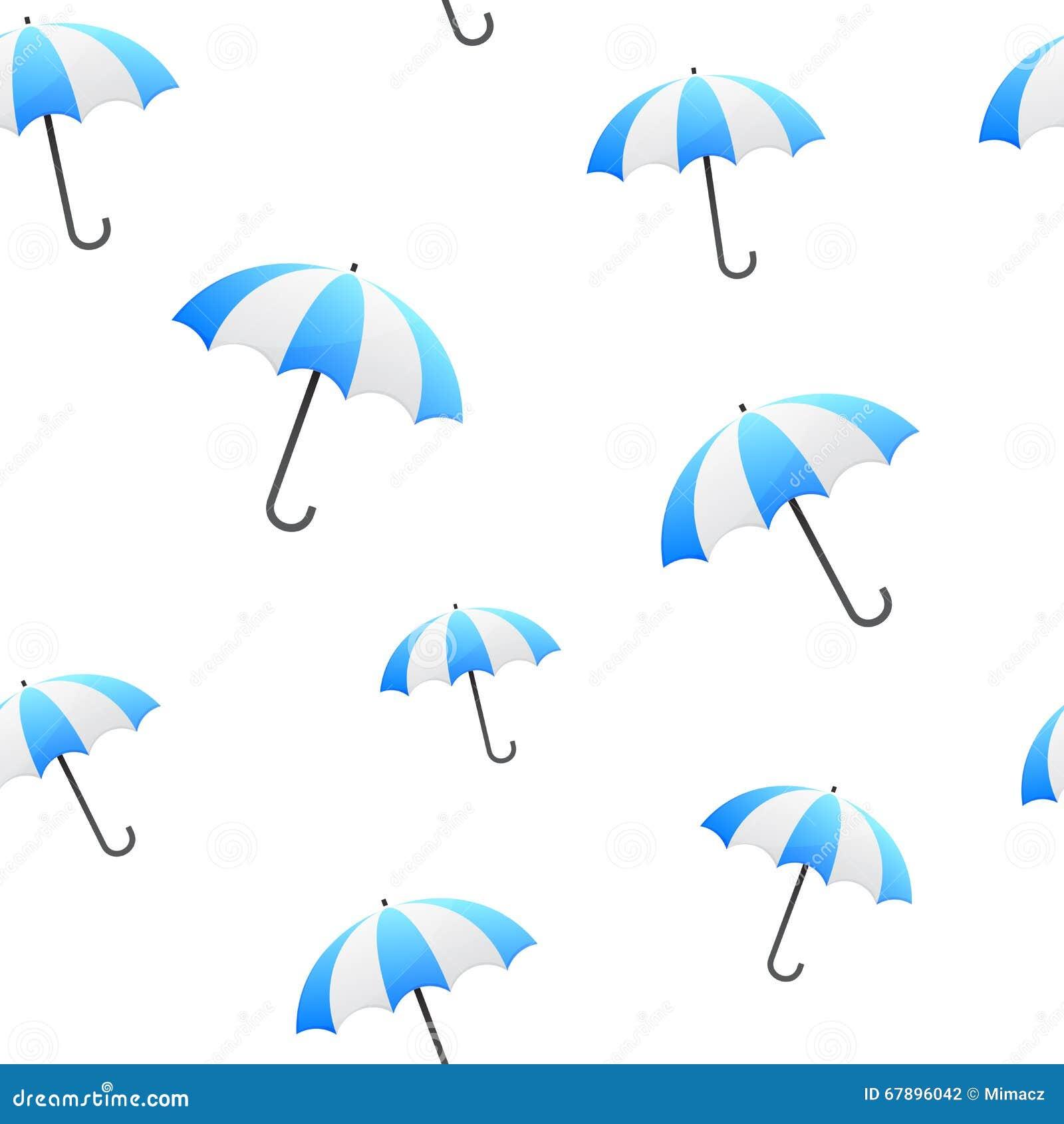 蓝色伞无缝的背景