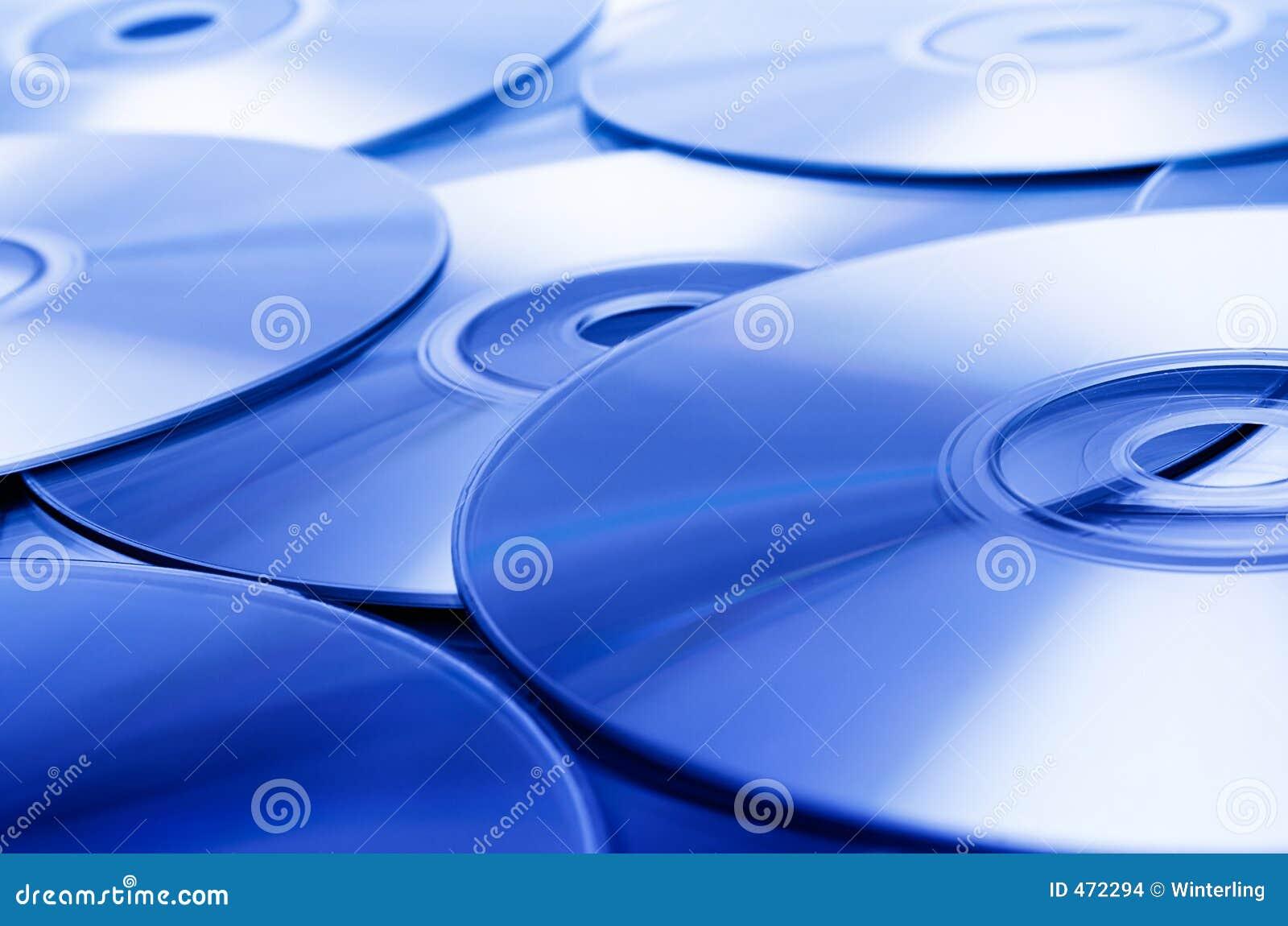 蓝色光盘纹理