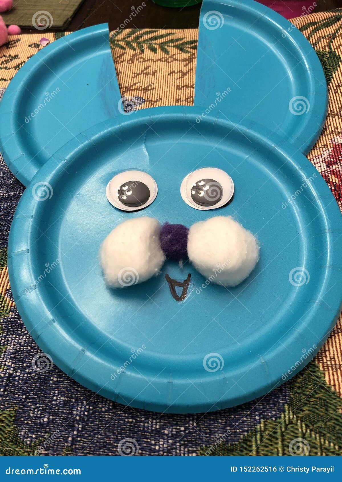 蓝色兔宝宝工艺