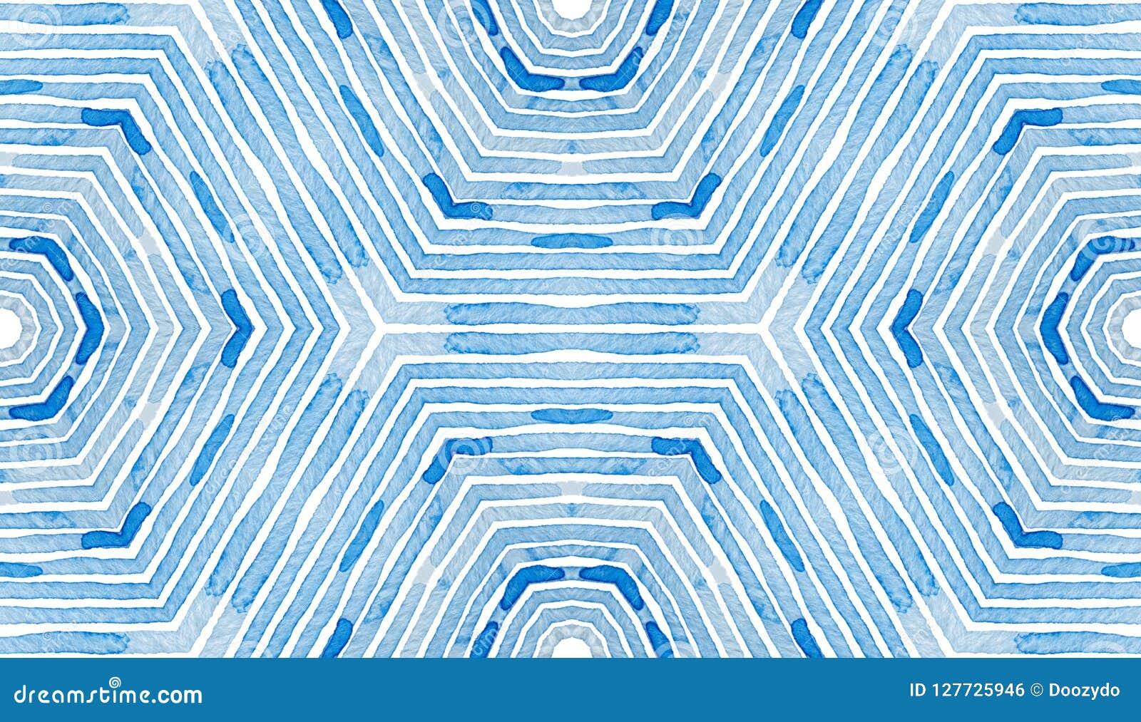 蓝色几何水彩 好奇无缝的啪答声