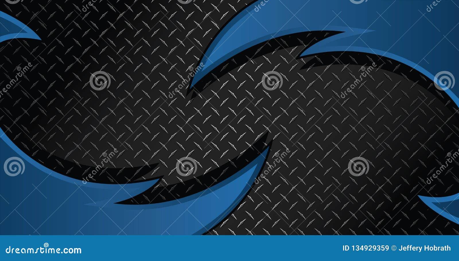 蓝色剃刀金刚石板材构造了传染媒介背景例证