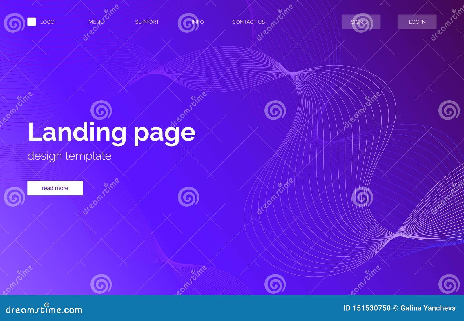 蓝色和白色梯度波浪背景,介绍的横幅,登陆的页,网站