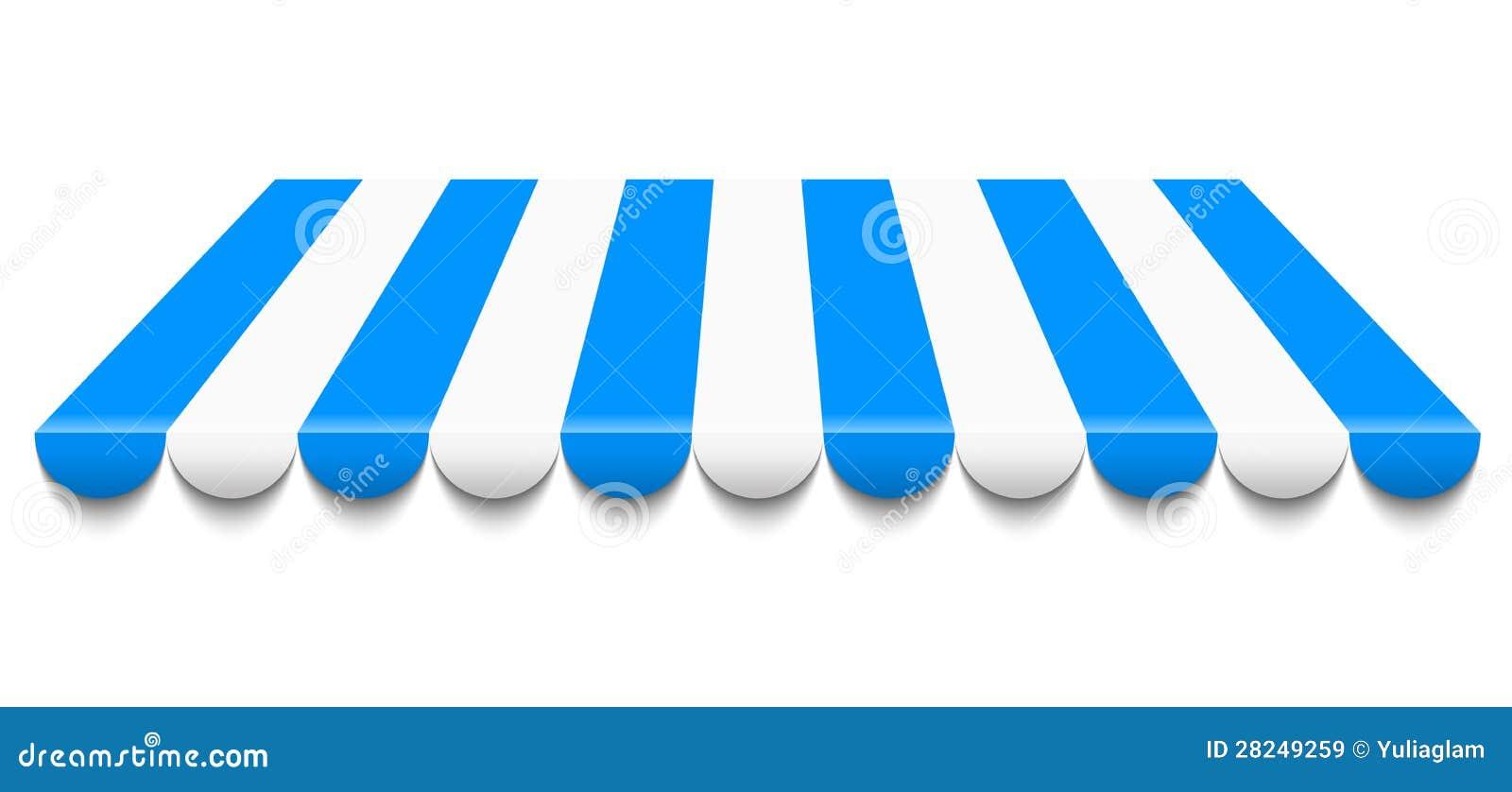 蓝色和空白遮篷
