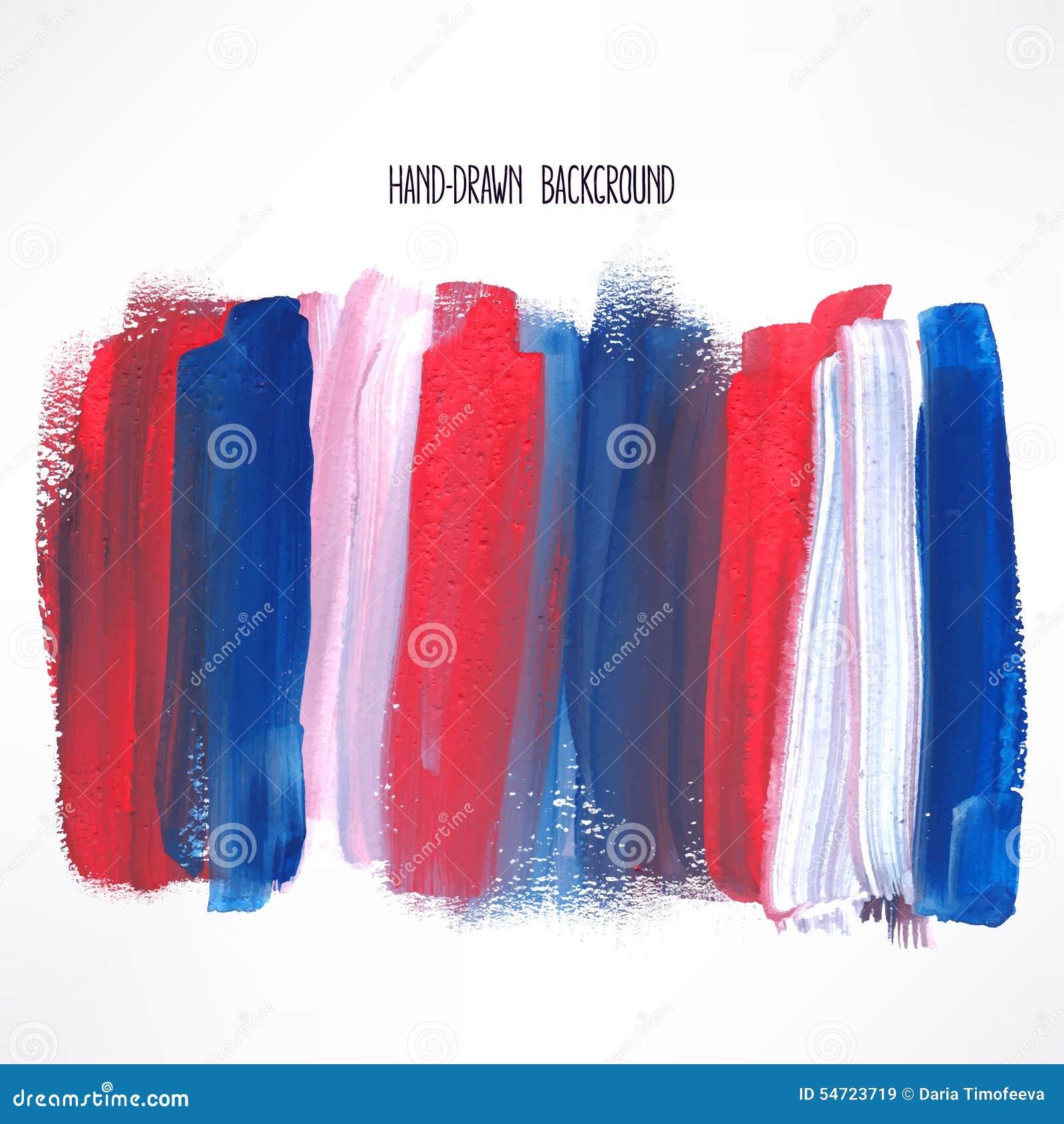 蓝色和红色冲程