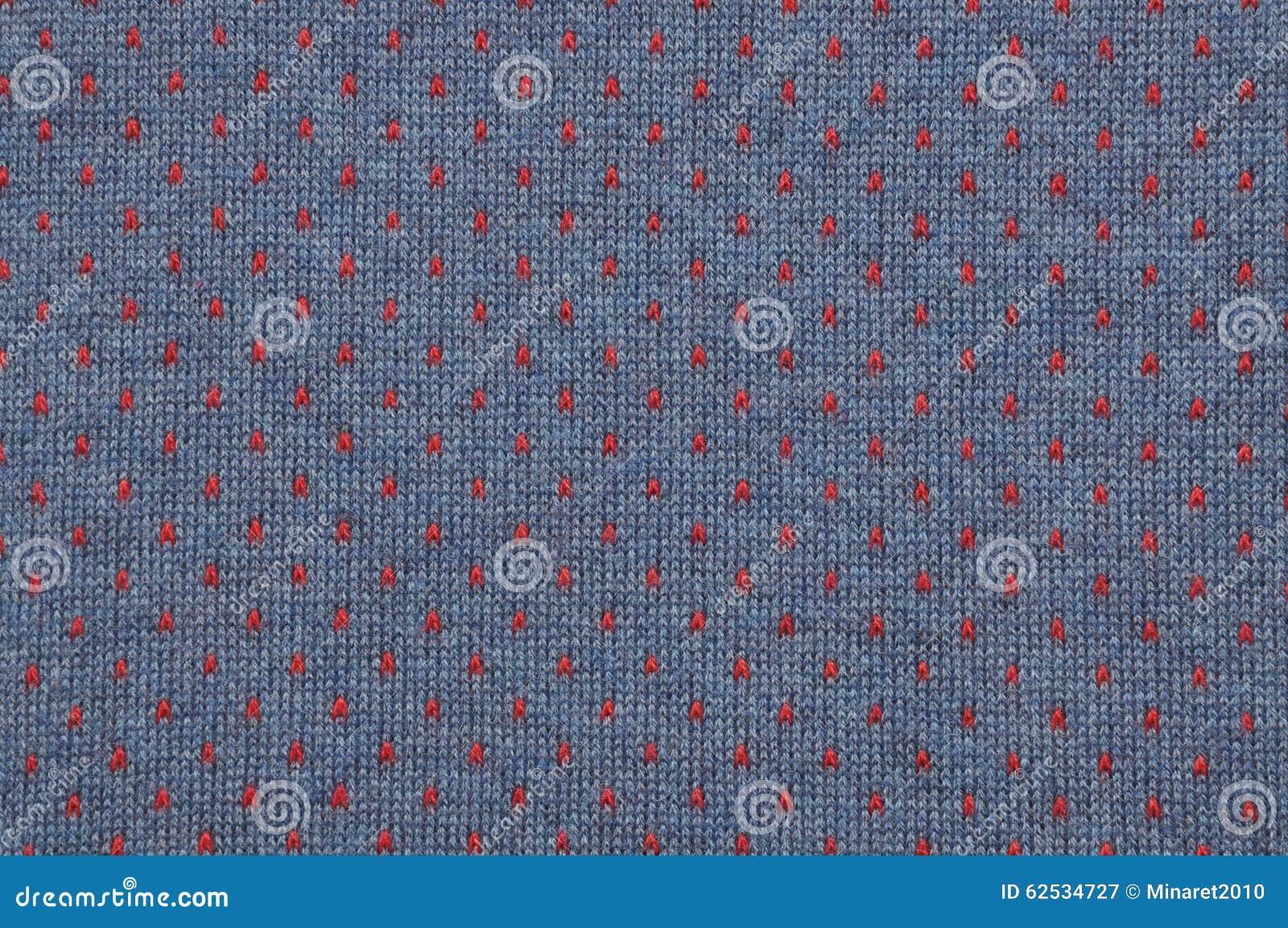 蓝色和红色被编织的织品纹理