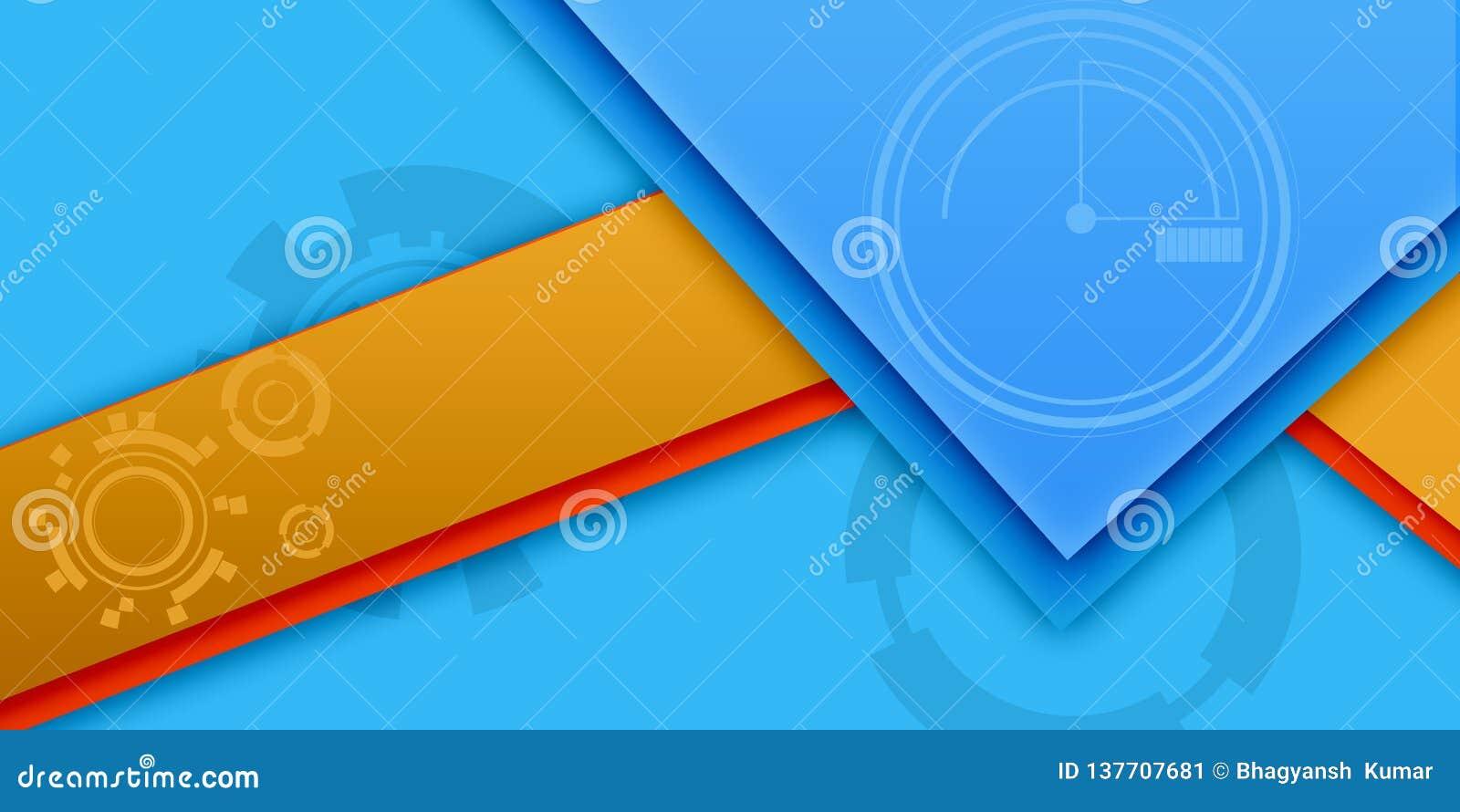 蓝色和黄色不同的抽象墙纸
