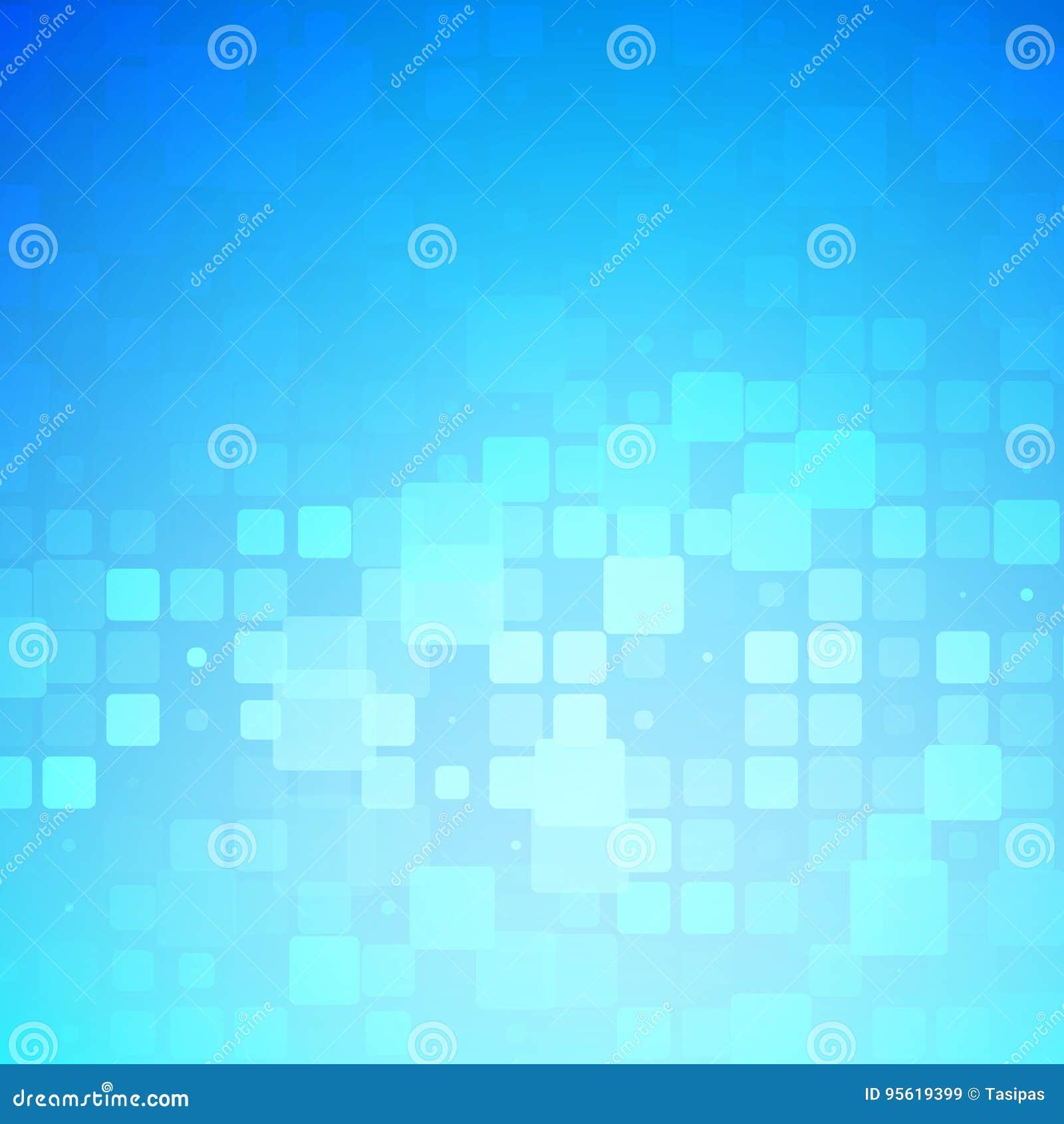 蓝色和轻的绿松石发光的被环绕的瓦片背景