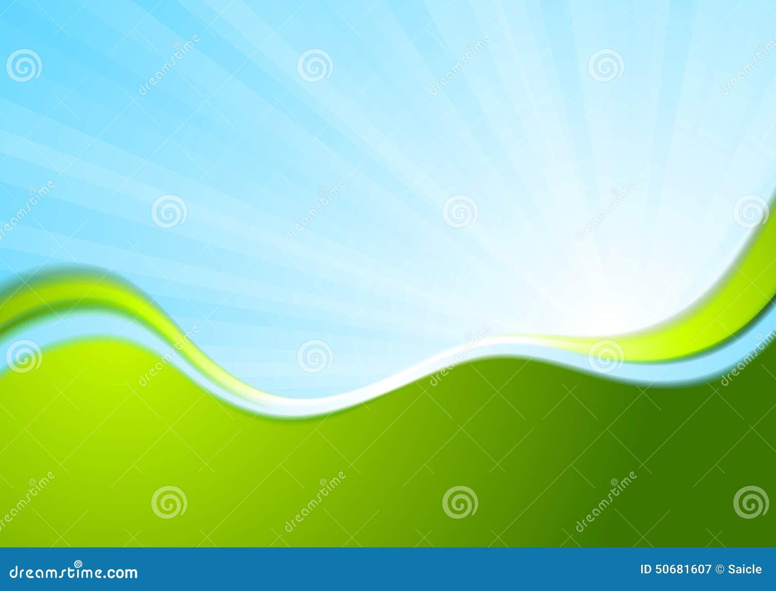 Download 蓝色和绿色波浪抽象背景 向量例证. 插画 包括有 商业, 抽象, 典雅, 图画, 例证, 设计, 发光, 放光 - 50681607