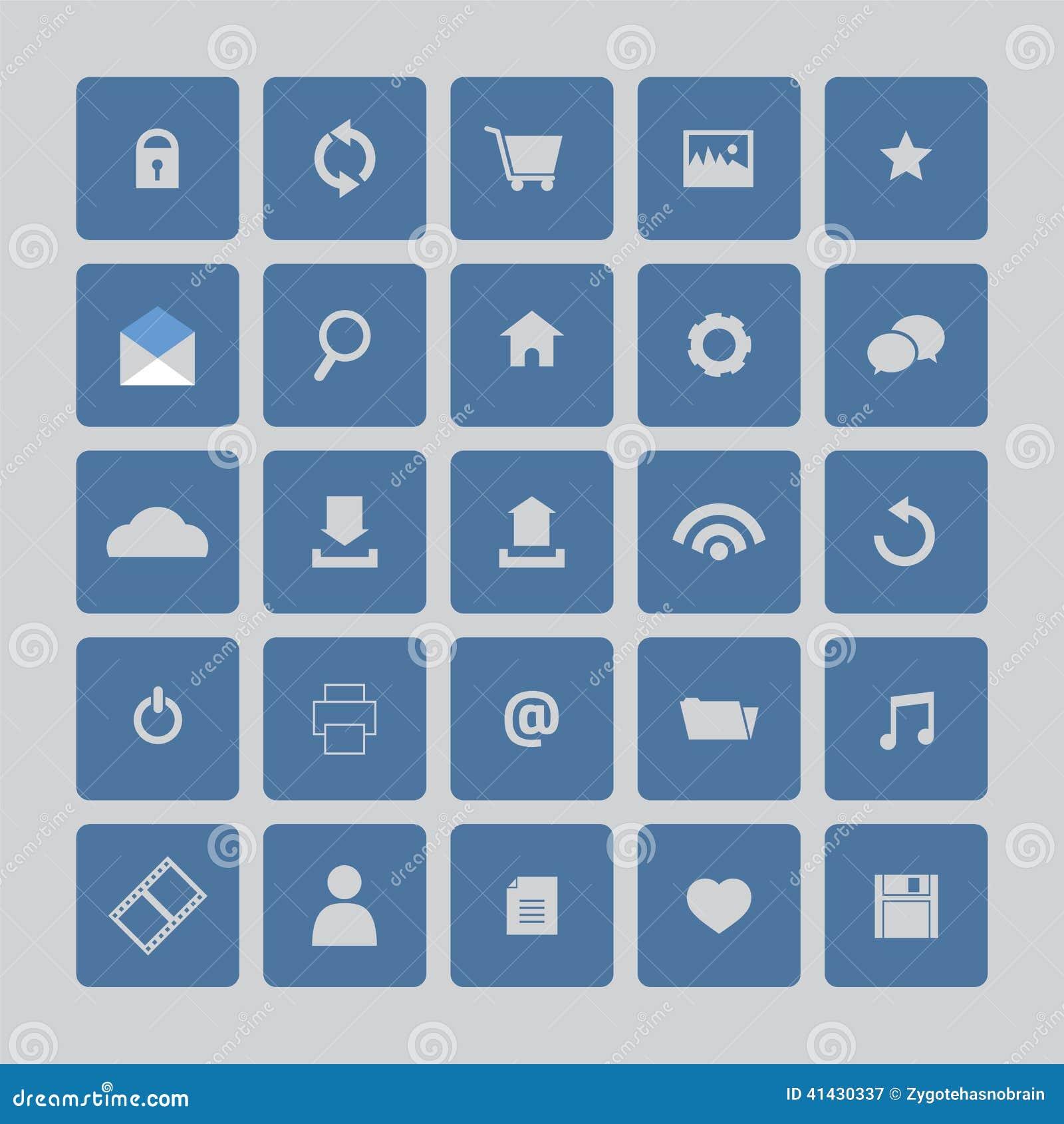 蓝色图标设置了网站图片