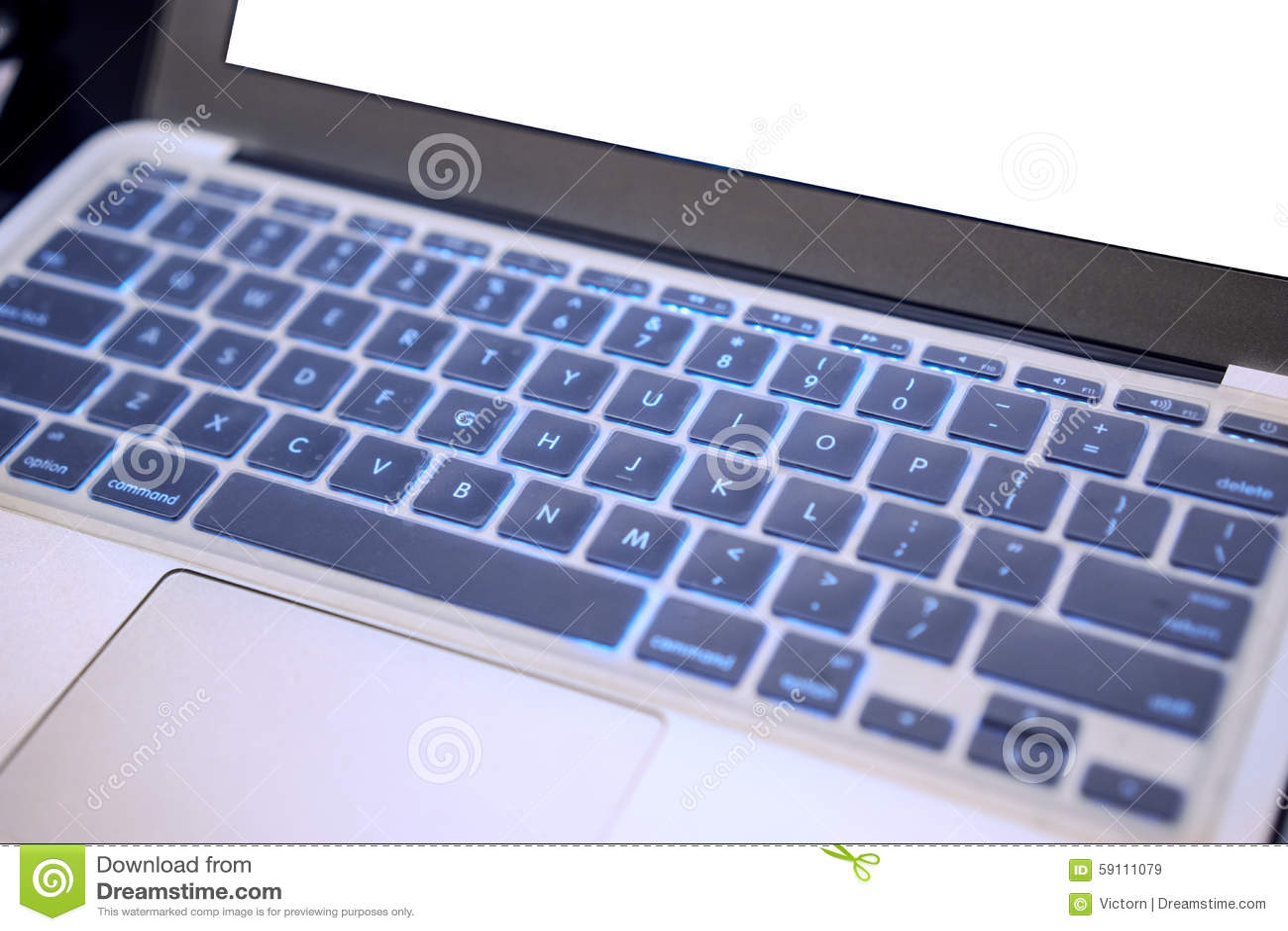 蓝色图象关键董事会笔记本软的色彩