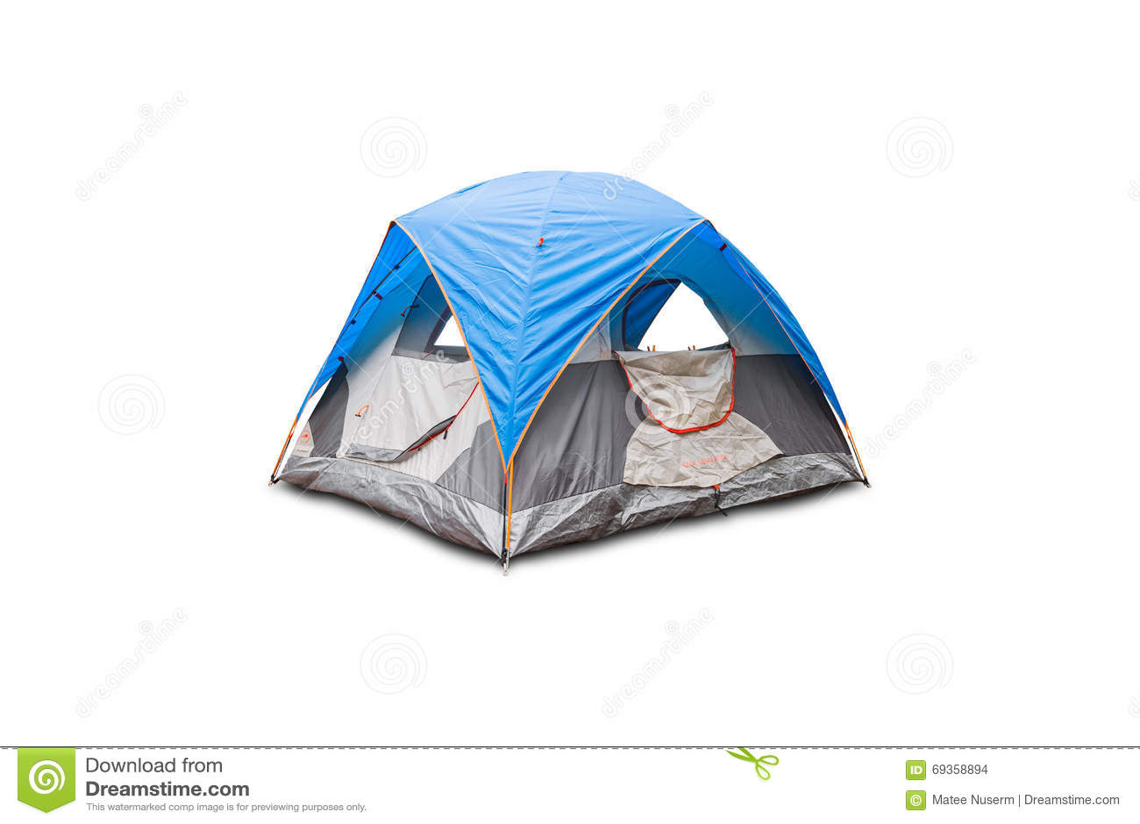 蓝色圆顶帐篷