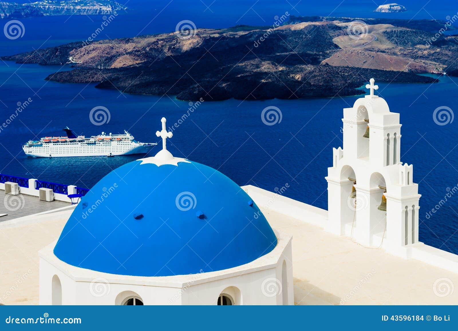蓝色圆顶教会和巡航