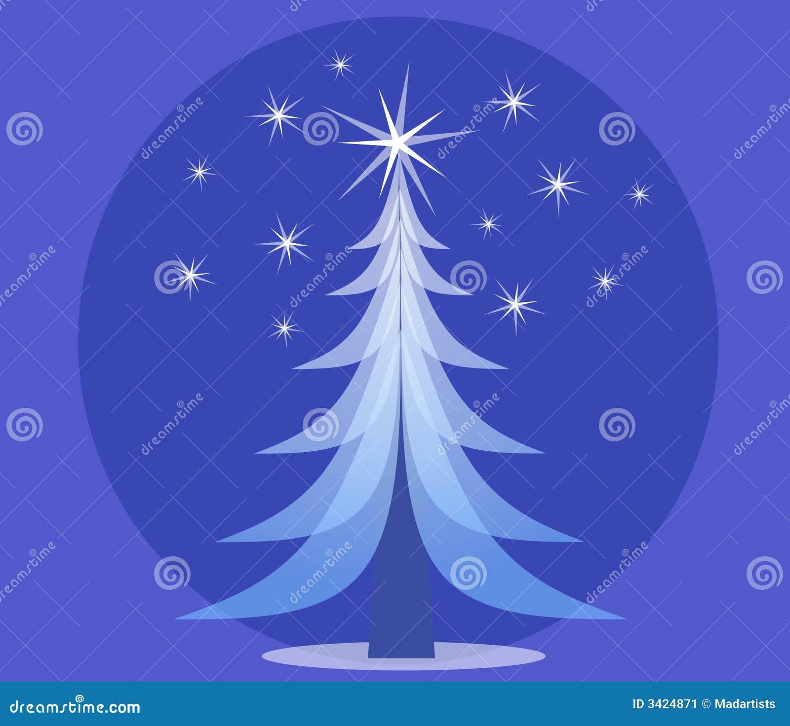 蓝色圣诞节不透明的结构树
