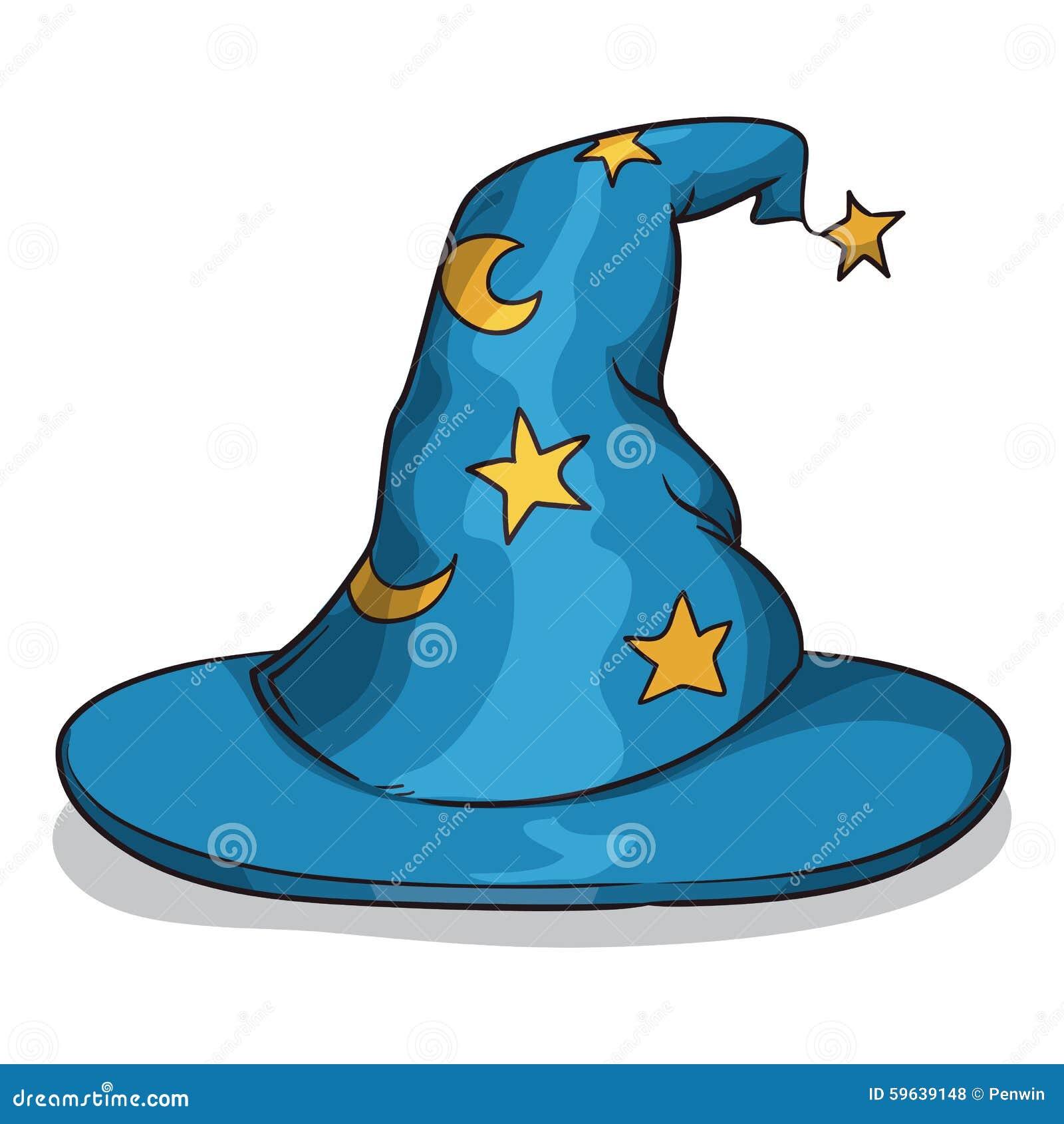 蓝色巫术师帽子